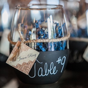 Escort Card Wine Glass Favors