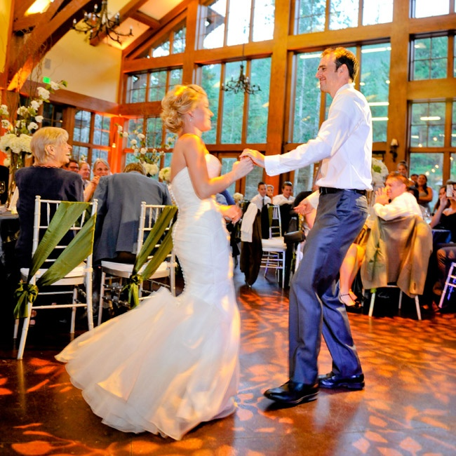 "Molly and Nick had their first dance as husband and wife to Ray LaMontagne's ""You Are The Best Thing."""