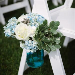 Blue Hydrangea Aisle Markers