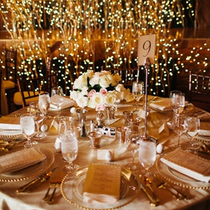 Romantic Lodge Reception Decor