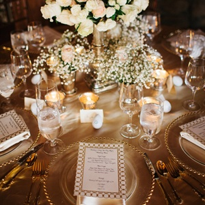 Golden Tablescape