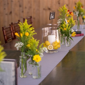 Wildflowers and Lemons Centerpieces