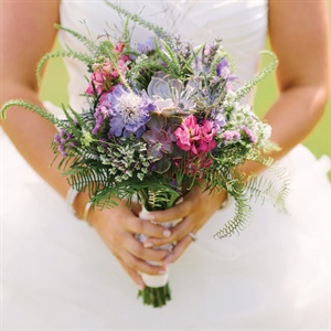 Pink and Purple Wildflower Bouquet