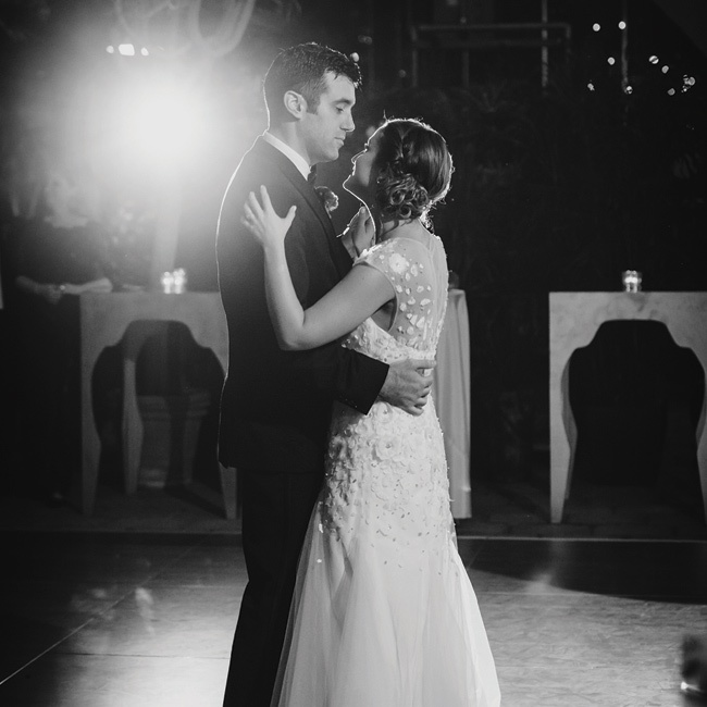 """Carly and David wanted their first dance to be to a fun and soulful song, so they chose Aretha Franklin's """"Baby I Love You."""""""