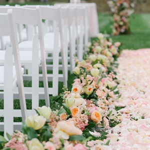 Loose Petal Ceremony Aisle