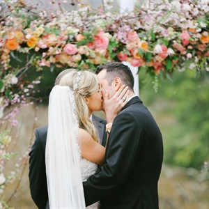 First Kiss As Newlyweds