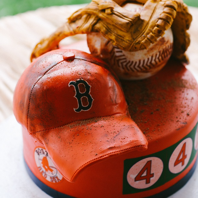 Rebekah surprised Pete with a baseball-themed groom's cake, and the Boston Red Sox also surprised the couple with a heartfelt video congratulating them on their marriage.