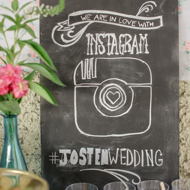 The couple got to see all aspects of their wedding through the lens of their guests with the Instagram hashtag #JostenWedding.