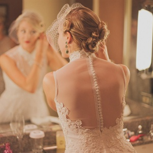 Sheer Back Bridal Gown