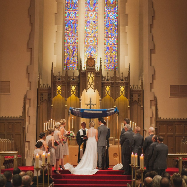 The couple exchanged vows in a traditional church setting in Denver, Colorado.