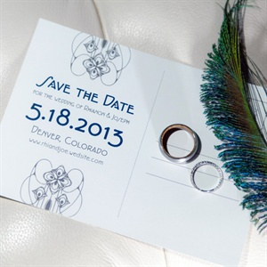 Art Deco Save The Date Card
