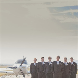 Airport Groomsmen Photoshoot