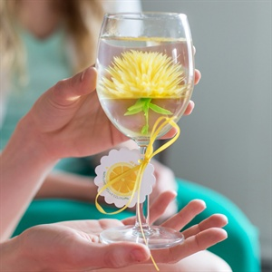 Yellow Chrysanthemum Wine Glass Gelatinas