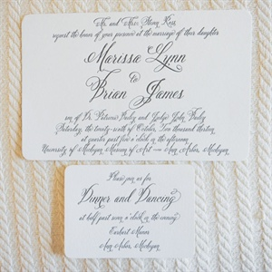 Traditional Letterpress Invitations