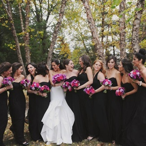 Formal Black Bridesmaid Gowns