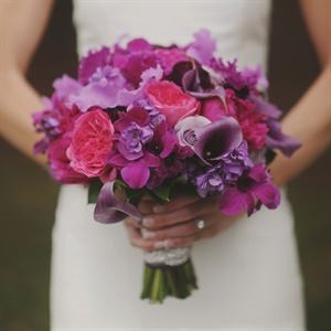 Bright Purple and Pink Bridal Bouquet