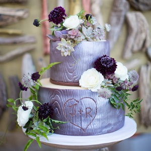 Tree-Themed Wedding Cake