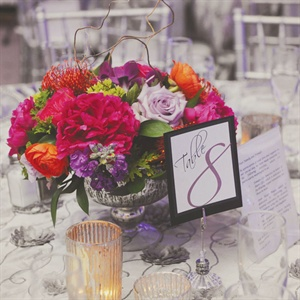 Jewel-Tone Centerpieces