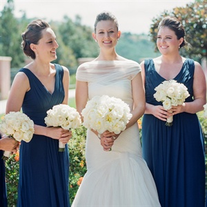 Navy Monique Lhuillier Bridesmaids Dresses