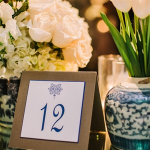 Classic Navy Table Number