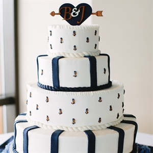 Anchor Motif Wedding Cake