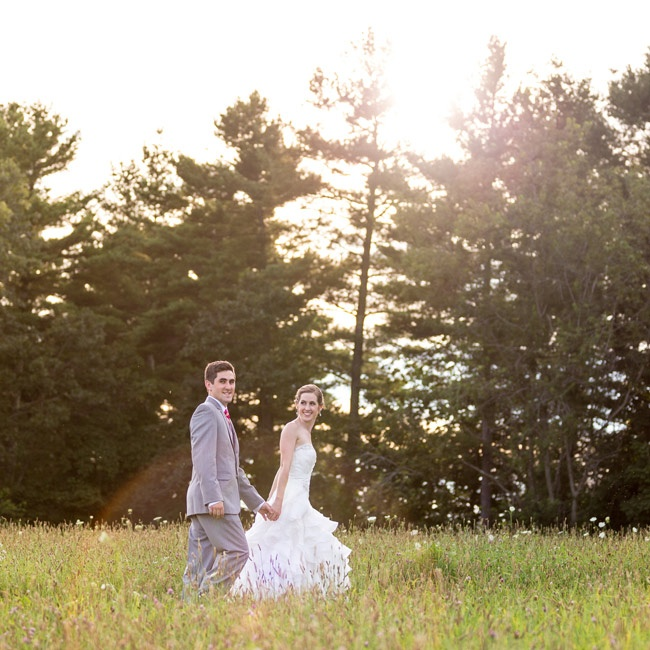 After the ceremony, the bride and groom took a few minutes to themselves and snapped pictures in the prairie grasses around their venue.