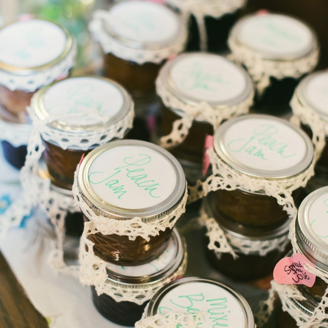 Caitlin made homemade jams, preserves and jellies from seasonal fruits for each guest to take home.