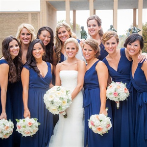 Navy Joanna August Bridesmaid Gown