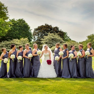 One-Shoulder Jim Hjelm Bridesmaids Gowns