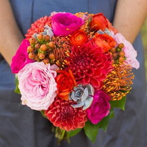 Pink and Red Dahlia Bouquet