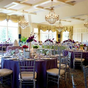 Vibrant Lime and Wisteria Reception