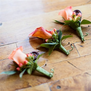 Orange Boutonnieres