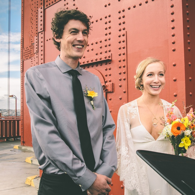 Mackenzie and Sheehan wanted to be married somewhere truly memorable, and that is how they decided upon the Golden Gate Bridge. The exact spot that they were married was underneath the first tower.