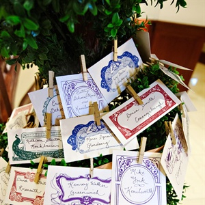 Book Plate Escort Cards