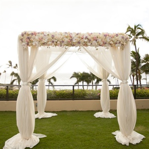 Romantic Chiffon Ceremony Arch