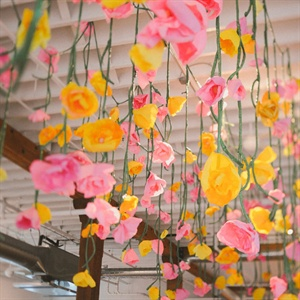 Hanging Paper Floral Decor