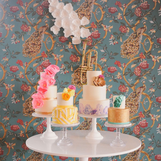 Color blocking—from the cake display to the tablescapes—was a dominant theme