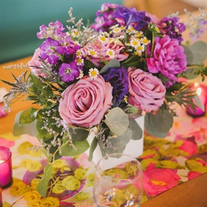 Lavender Rose Centerpieces
