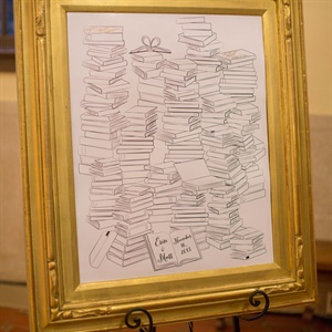 Library Books Guestbook Board