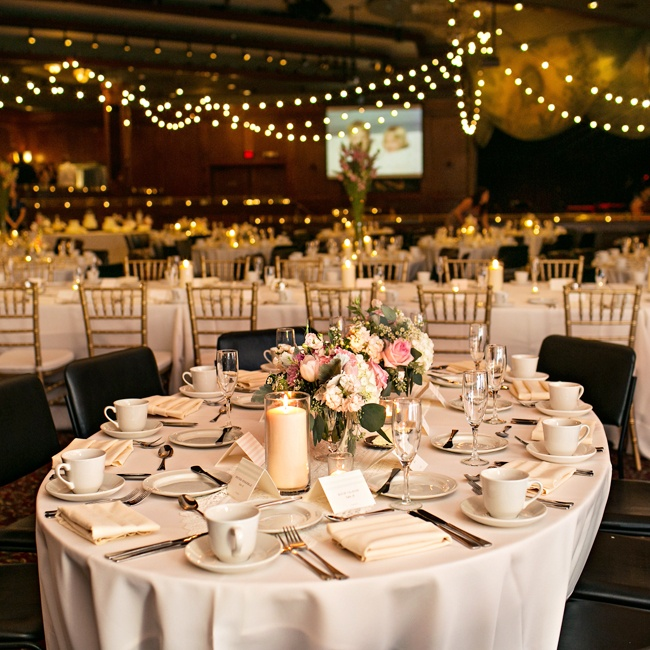 Kristin and Casey transformed The Metropolitan Ballroom in Golden Valley, Minnesota into a chic reception space.
