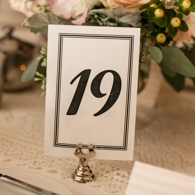 Tables were designated by numbers written in black, formal fonts.