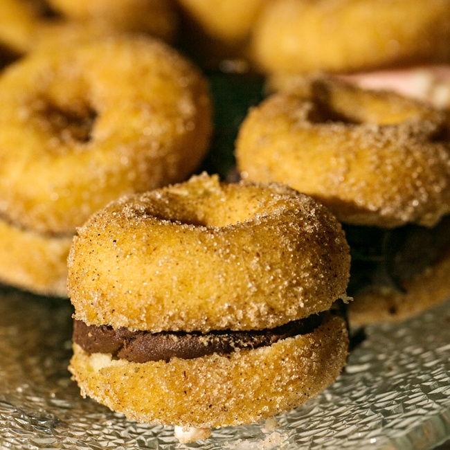 Among the variety of sweet desserts were these little donut confections.