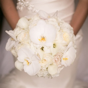 Orchid and Lily Bridal Bouquet