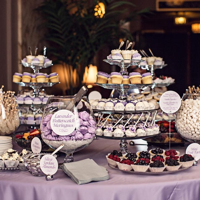 An array of sweet desserts were laid out for guests to enjoy after the evening meal.