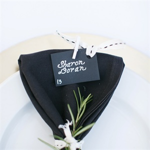 Black, White and Ivory Place Settings