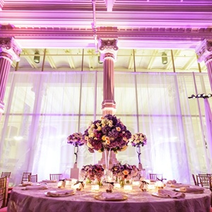 Tall Formal Hydrangea and Rose Centerpieces