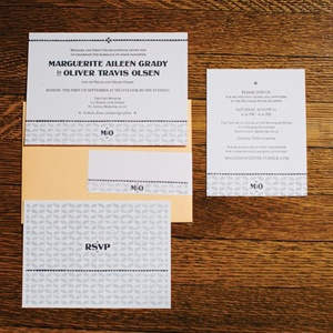Yellow and Gray Invitation Suite