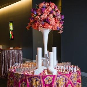 Tall Coral Hydrangea Centerpiece