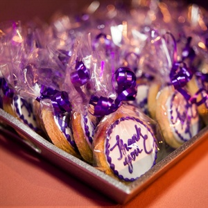 Purple Cookie Favors