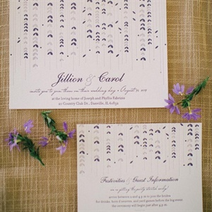 Purple Floral Garland Invitations